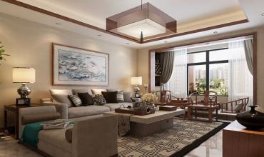 113平-棠湖春天二期-中式风格装修-7.45万